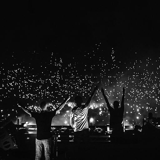 Above & Beyond at The O2 (B&W)